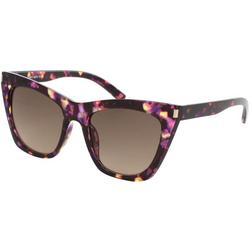 Womens Purple Tortoise Cat Eye Sunglasses