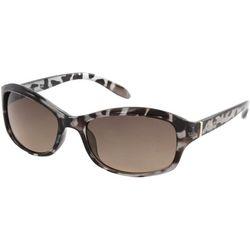 Jones New York Womens Tortoise Multi Wrap Sunglasses