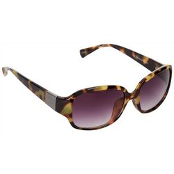 Jones New York Womens Tortoise Rectangle Sunglasses