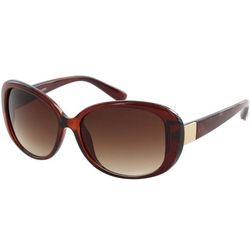 Jones New York Womens Amber & Gold Butterfly Sunglasses