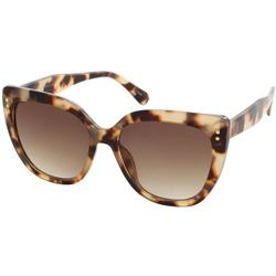 Womens Mod Cateye Plastic Sunglasses