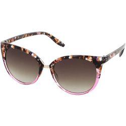 Jones New York Womens Blush Tortoise Cateye Sunglasses