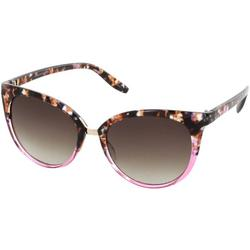 Womens Blush Tortoise Cateye Sunglasses