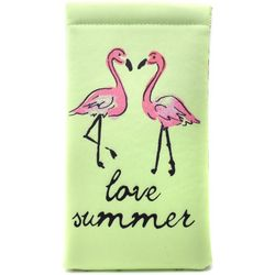 Coral Bay Womens Love Summer Flamingo Sunglasses Case