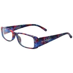 Leoma Lovegrove Womens Rhinestone Poseidon Reading Glasses
