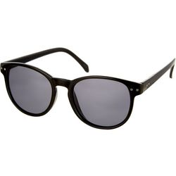 Bay Studio Womens Black Round Sunglasses