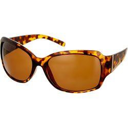 Bay Studio Womens Tortoise Brown Small Square Sunglasses