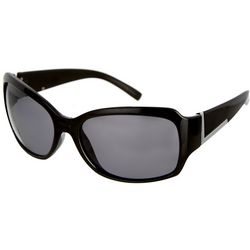 Bay Studio Womens Black Rounded Oval Sunglasses
