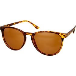 Bay Studio Womens Tortoise Brown Round Sunglasses