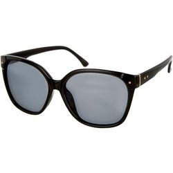 Bay Studio Womens Classic Square Black Sunglasses