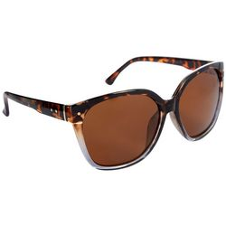 Bay Studio Womens Tortoise Brown Classic Square Sunglasses