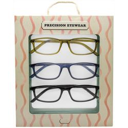 Precision Eyewear Womens 3-pk. Solid Reading Glasses