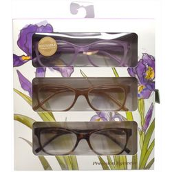 Precision Eyewear Womens 3-pk. Flower Box Reading Glasses