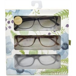 Precision Eyewear Womens 3-pk. Brown & Black Reading Glasses
