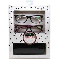 Precision Eyewear Womens 2-pk. Polka Dot Reading Glasses