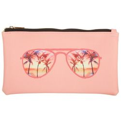ICON Palm Sunglasses Coral Pink Eyewear Case