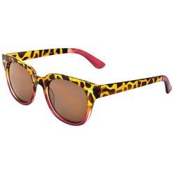 ICON Womens Animal Print & Pink Sunglasses
