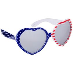 Coral Bay Womens Patriotic Heart Frame Sunglasses