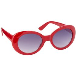 Coral Bay Womens Red Oval Sunglasses