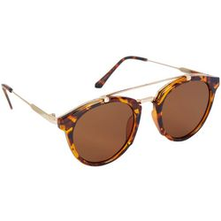 Coral Bay Womens Brown & Gold Tone Frame Sunglasses