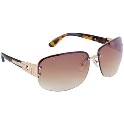 Coral Bay Womens Tortoise Brown & Gold Tone Sunglasses