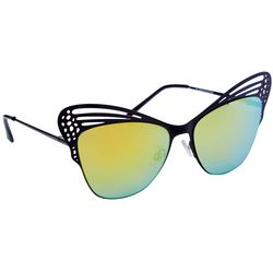 Coral Bay Womens Metal Butterfly Frame Sunglasses