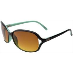 Coral Bay Womens Mint Green Vented Square Sunglasses