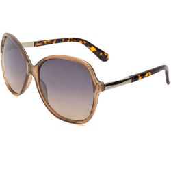 Coral Bay Womens Tortoise Brown Square Sunglasses