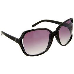 Bay Studio Womens Black Glam Square Sunglasses