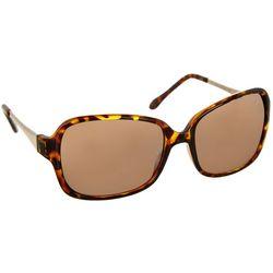 Bay Studio Womens Tortoise Brown Square Sunglasses