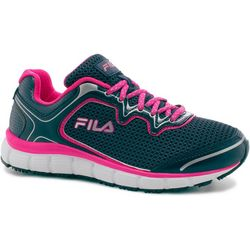 Fila Womens Memory Fresh Start Neon Accent Work Shoes