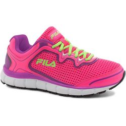 Fila Womens Memory Fresh Start Pink Work Shoes