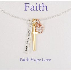 Gratitude & Grace Three Tone Faith Necklace