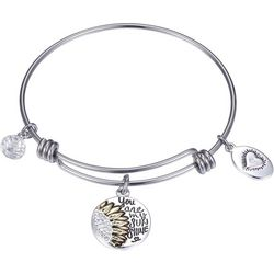 Footnotes You Are My Sunshine Charm Bangle Bracelet