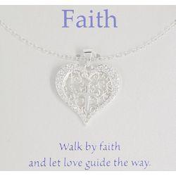 Gratitude & Grace Filigree Heart Necklace