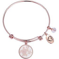 Footnotes Sea Turtle Mother & Daughter Charm Bangle Bracelet