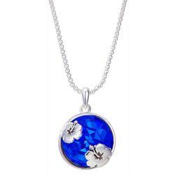 Disney Lilo & Stitch Blue Glass Pendant Necklace