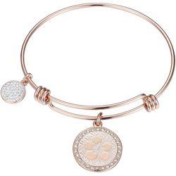 Disney Rose Gold Tone Ohana Means Family Bangle Bracelet