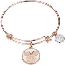 Disney Minnie Mouse Love & Kisses Charm Bangle Bracelet