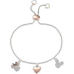 Disney Minnie & Mickey Crystal Elements Slider Bracelet