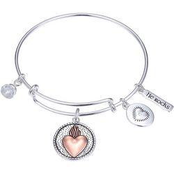 Gratitude & Grace He Is Love Bangle Bracelet