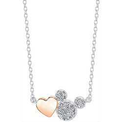 Disney Heart & Mickey Mouse Pendant Necklace
