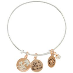 Footnotes Life Is Better At The Beach Palm Bangle Bracelet