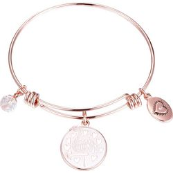 Footnotes Be A Flamingo Charm Bangle Bracelet