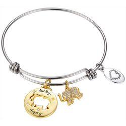 Footnotes Lucky Elephant Charm Bangle Bracelet