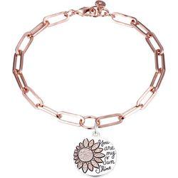 Jolie Femme Two Tone Happy Flower Charm Bracelet