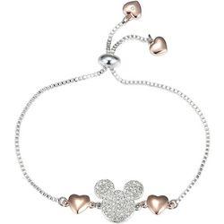 Disney  Mickey Mouse Pave Crystal Adjustable Bracelet