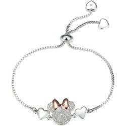 Minnie Mouse Pave Crystal Adjustable Bracelet