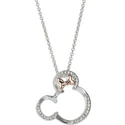 Disney Minnie Mouse Bow Pendant Necklace