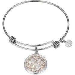 Disney Minnie Mouse Floating Crystals Bangle Bracelet